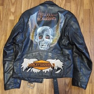 Vintage motorcycle jacket with artwork by Gerson
